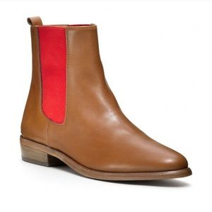 Coach Legacy Lucia Flat Ankle Boot fawn/red